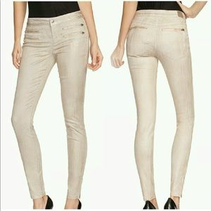 GUESS 8-Zip Colored Skinny Jeans -District Taupe
